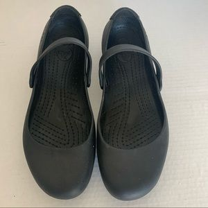 Crocs Black Ballet Mary Jane Flats 10